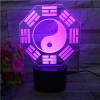 Portable Bagua Map Pattern Design 3D Night Light Rechargeable Wireless Outdoor Speaker LED Optical Illusion Lamp
