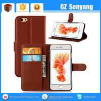 2016 Mobile Accessories PU Leather Wallet Cell Phone Case for iphone 6s