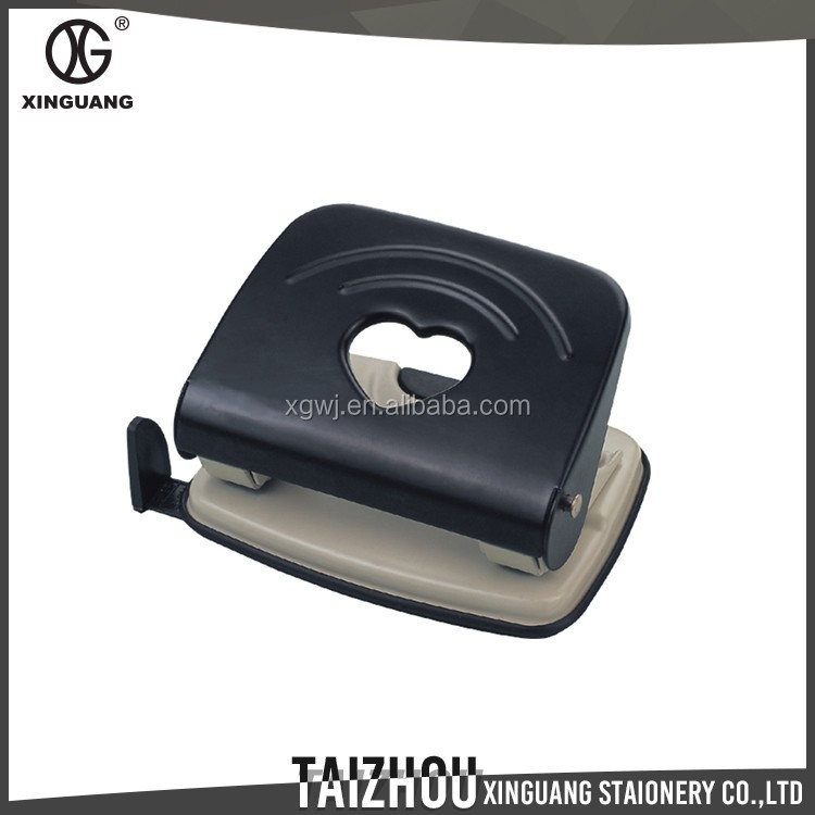 New Product Office Stationery Manual Cold-rolled steel black hand punch pictures