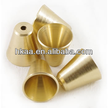 Machined Small Slip In Brass Cone