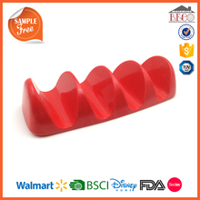 Plastic Melamine Solid Color Taco Holder with Food Grade