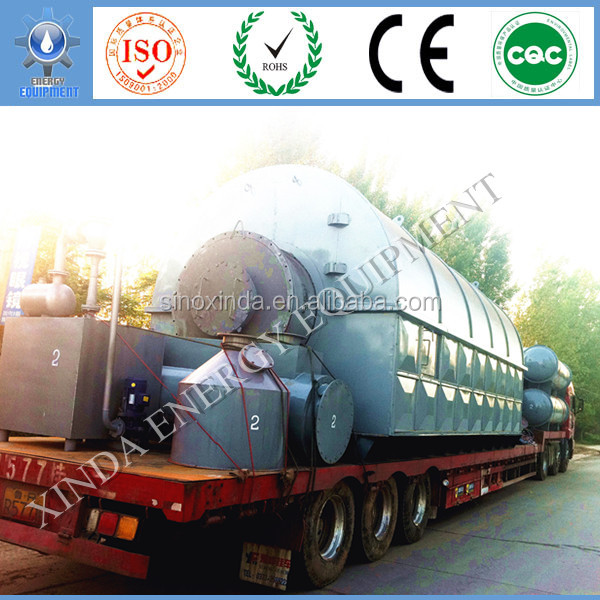 Q345R Process waste/scrap plastic pp pvc pe to fuel oil manufacturer