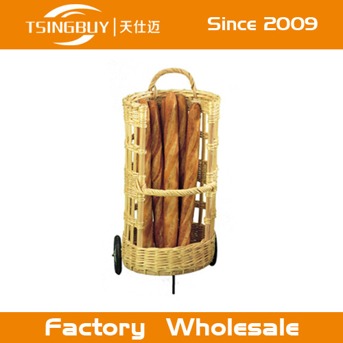 cheap round willow wicker baskets with handle wholesale/fruit basket canada