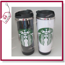 Hot Sales 350ml double wall stainless steel promotional thermal travel coffee mug with insert paper