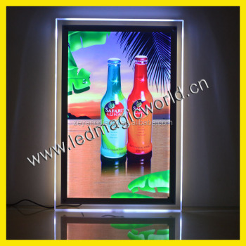 2017 Edge Light Vinyl Poster LED picture frame Acrylic Material LED Advertising Light Box