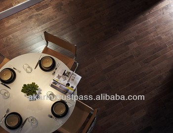 Solid Rubberwood Flooring in Walnut Colour