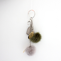 Myfur Fashion Design Luxury Mink Fur Key Chain For Bag Charm