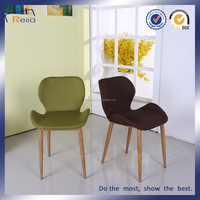No folded metal legs fabric cover dining chair