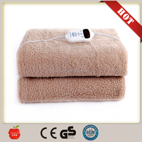 Synthetic Wool Electric Heating Blanket With CE GS/Polyester Massage Electric Blanket for Bed Warmer from china factory