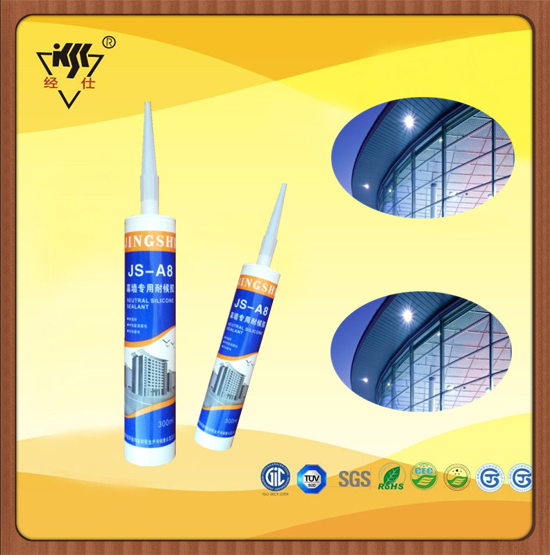 300ml Fast Curing Time Good Sealling Glass Partition Window Curtain Building Glass Wall Silicone Sealant