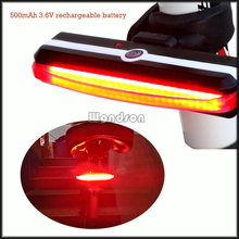 6 Light Modes 26 SMD LED USB Rechargeable Bicycle Rear Warning Lamp COB Bike Tail Light