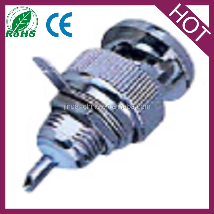 mini-bnc male jack with nut bulkhead panel mount solder st rf connector