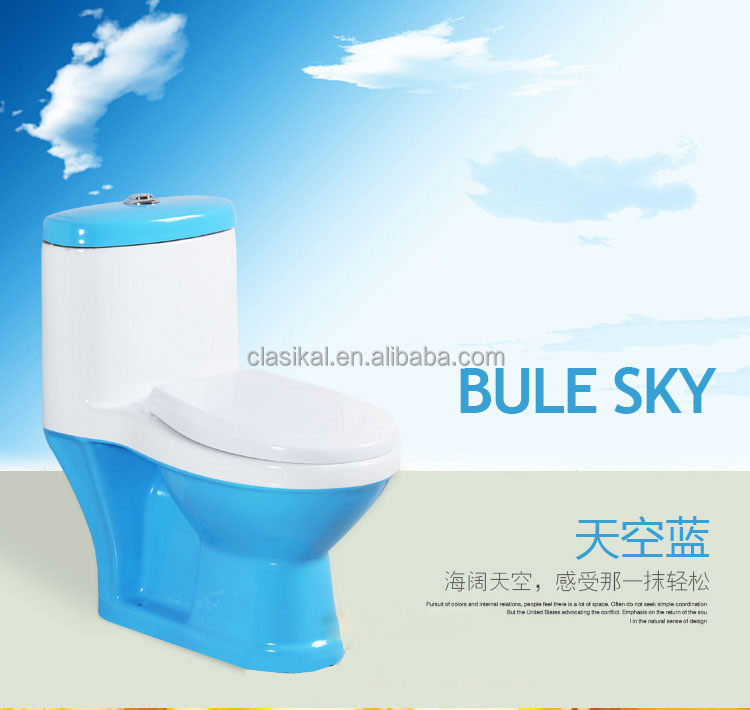 China sanitary ware blue color children size toilet