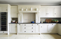 Amercian shaker solid wood white color kitchen cabinet