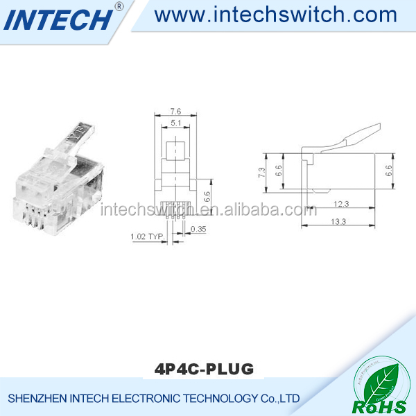AC 125V 1.5A poe rj45 led connector PCB jack