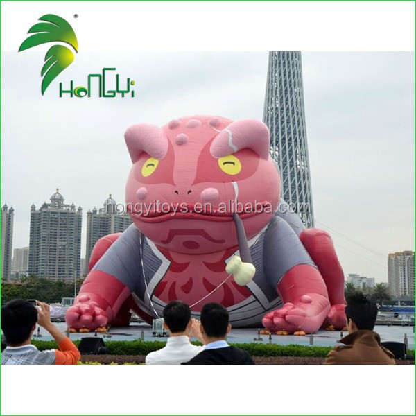 Advertising giant inflatable frog cartoon