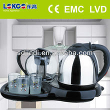 Electrical kitchen appliance samovar with glass teapot