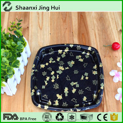 Top quality PS material sushi container, disposable plastic box rectangular, plastic sushi box