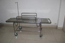 Cheap prices stainless steel height adjustable hospital ambulance stretcher