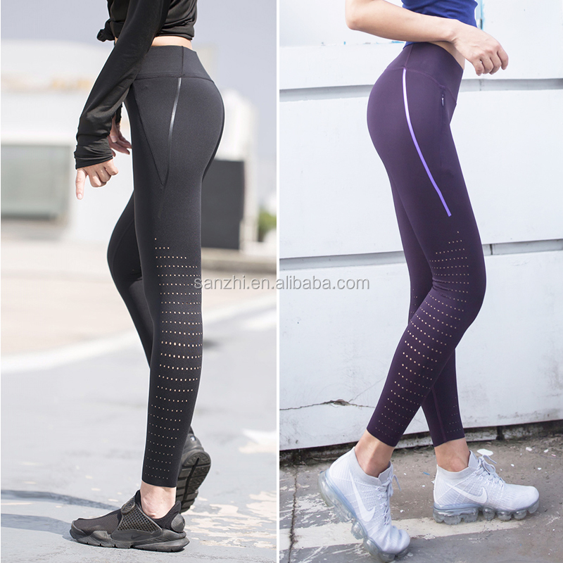 Womens Moisture Wick Full Length Athletic Fitness Activewear Gym Sports Leggings