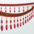 Wholesale Gold Acrylic Lampshade Beaded Fringe, Curtain Glass Beaded Fringe