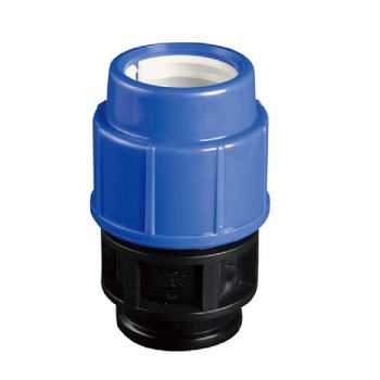 PP COMPRESSION FITTINGS FOR IRRIGATION MALE THREAD SOCKET