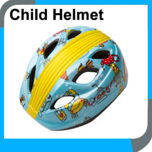 small cycle helmet kids sale by factory,sky blue PVC kids scooter helmet with reflexive sheets in rear part for child