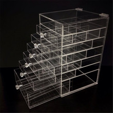 Unique square large makeup drawer organizer cosmetic organiser personal organiser covers acrylic 6tiers organizer