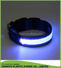Nylon webbing led dog collars pet circle