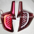 For Honda Fit Jazz LED Tail Lamp hatchback 14-UP Red white JY