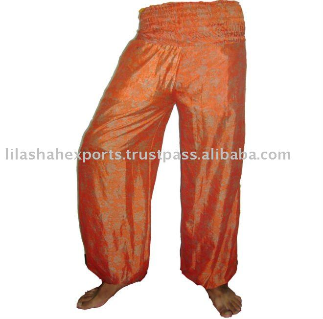 2594 Vintage silk saree Harem Pant Supplier Garments Light Weight Cotton JumpSuits Garments Soft Cotton Fabrics Clothes Hindu