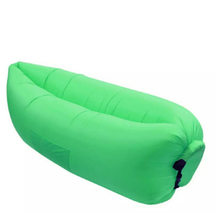 201D nylon durable waterproof portable Inflatable sun lounger sofa with shade and Carry Bag