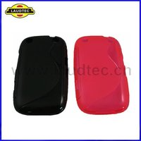 S Line Design TPU Gel Case Cover for Blackberry Curve 9320,New Arrival,Laudtec