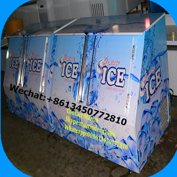 400Lbs Cold Wall Bagged Ice Storage Bin for Gas Station