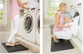 Customized label pressure relax standing work adjustable table foot mat