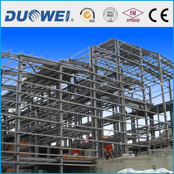 Workshop with prefabricated steel structure
