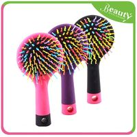 hard bristle hair brush ,H0T10 plastic round hairbrush , professional ball hair brush
