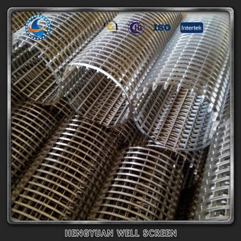 Slotted Long And Round Wedge Wire Screens