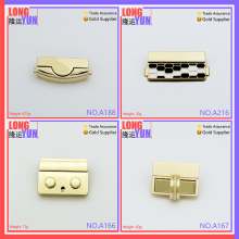 Metal accessories for bag handbag hardware new design press lock bag making accessories mortise lock
