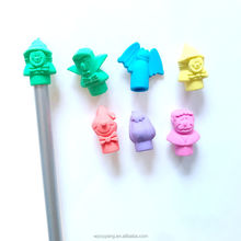 3D TPR cute Halloween pencil topper rubber eraser for child, kids stationery set