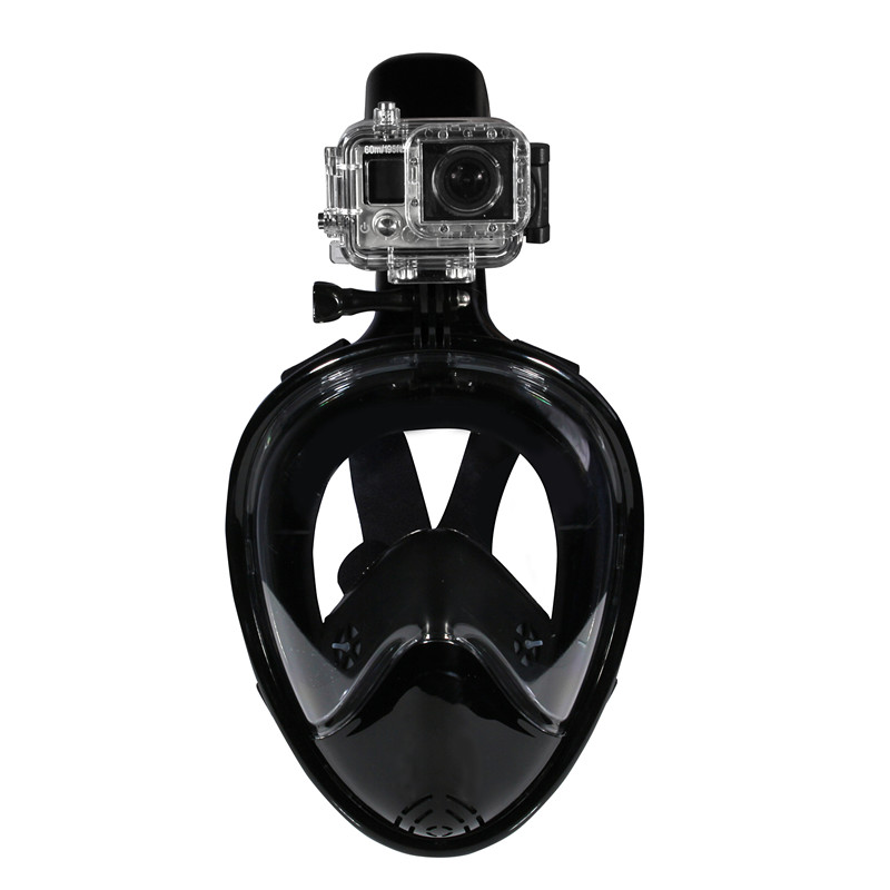 Dropshipping NEOpine M2068G Free Breath Snorkel Full Face Diving Mask With Gopro Amount CE