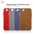 for iPhone 7 8 Mobile Cover Ultra Thin Soft Leather Pattern Cell TPU Print Rubber Matte Phone Case