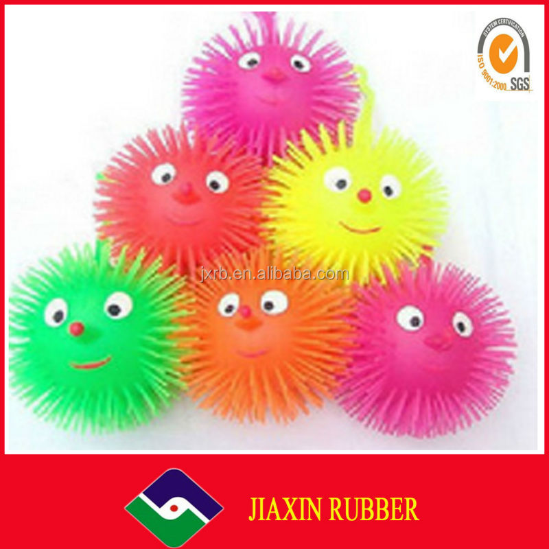 2014 Rubber hollow plastic ball, toy ball/fluffy ball toy