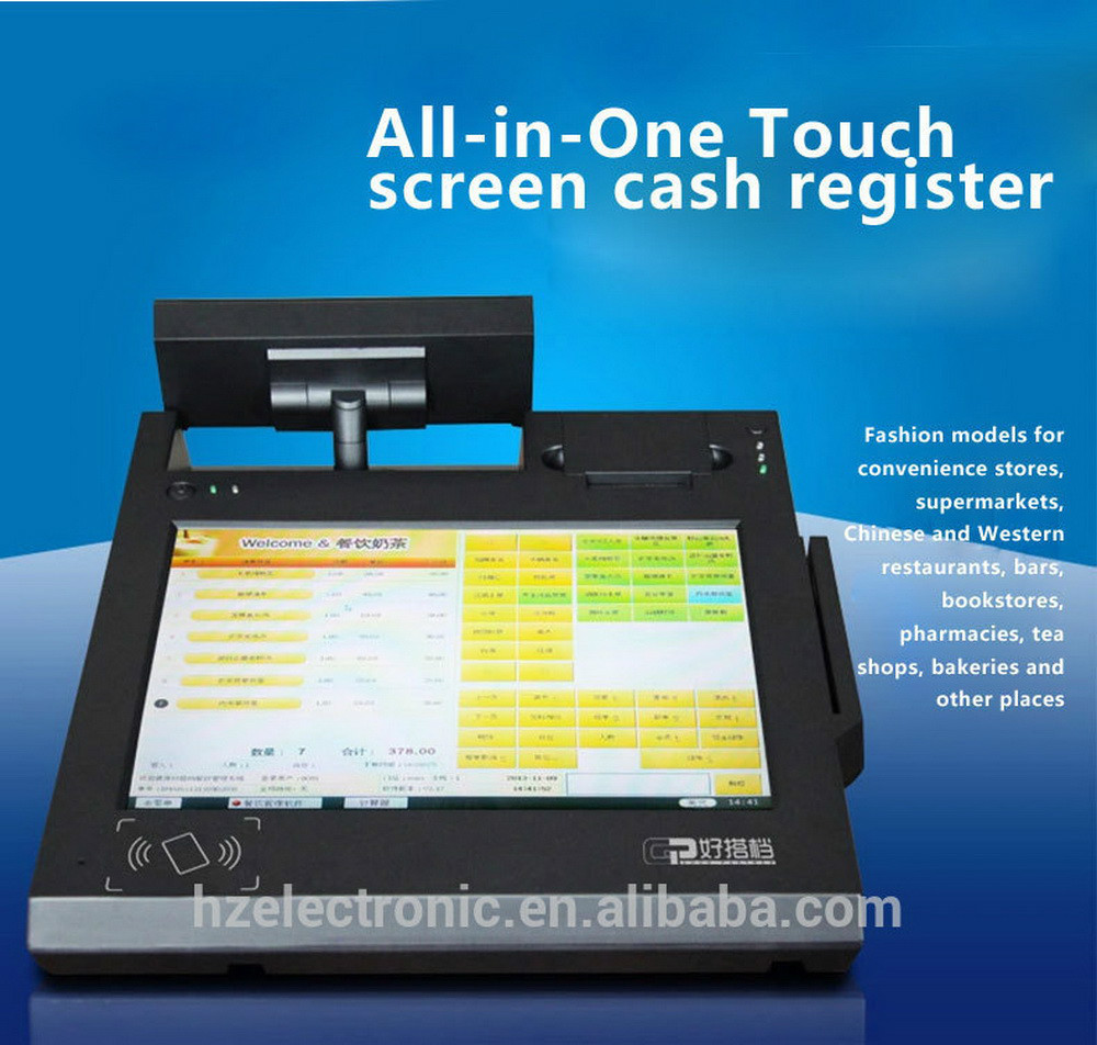 Touch screen cashier machine with scanner and printer buy cashier