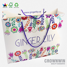 Recycled color printing paper shopping bag for garment