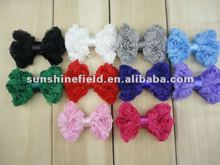 Dainty Chiffon Rose Bows Rosette Bows Baby Hair Bow