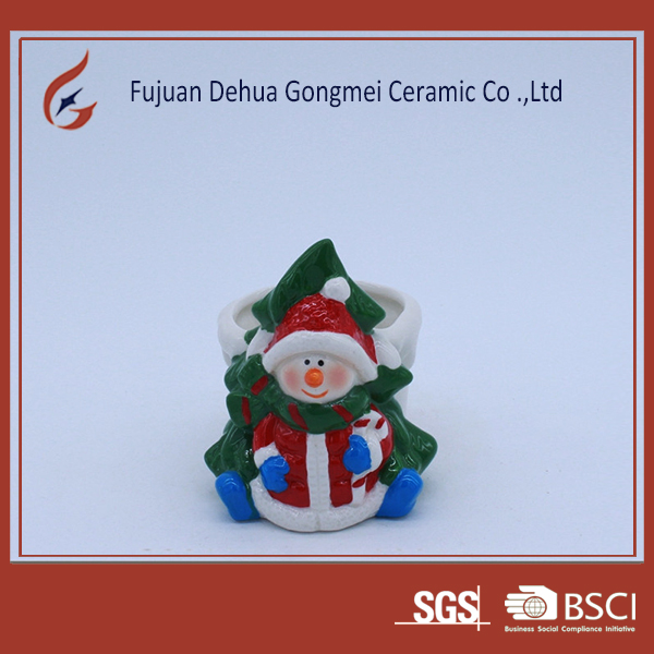 OEM small christmas craft ceramic flower pot molds