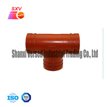 High safety durable mechanical pipe fitting T shape elbow