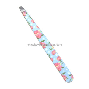 3.5 inch personal care cosmetic slanted tip eyebrow tweezers