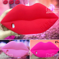 Hot Sale ! Newest Cute 3D Cartoon cover Fashion Sexy Red Lips Kiss Design Phone Cases for iPhone 6 Plus / 6S Plus case 5.5 inch